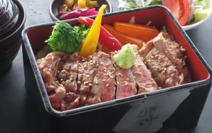 牛肉のステーキ重